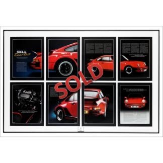 Porsche 930 Turbo Chronicle Captured and Framed Sold